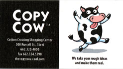 Copy Cow Business Card