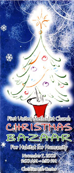 Christmas Bazaar Brochure Cover