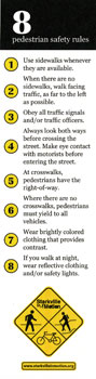 Pedestrian Safety Bookmark