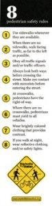 Pedestrian Safety Bookmark